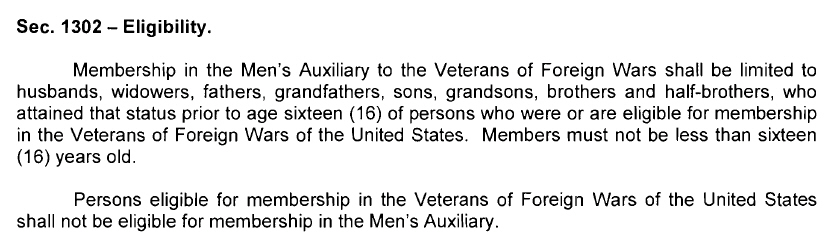 VFWMAUXELIGIBLITY Vfw Auxiliary Membership Application Form Pdf on vfw auxiliary order forms, pta membership forms, lions club membership forms, warrent ladies auxiliary forms,